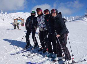 Ski with friends at Stonebridge Big White