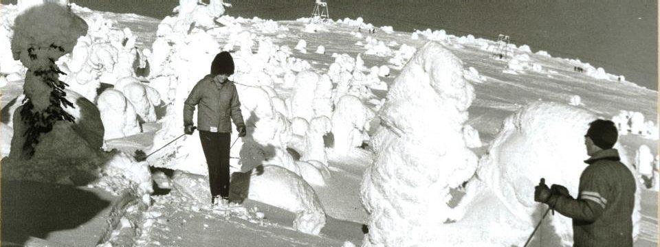 The earliest years, skiing at Big White Ski Resort
