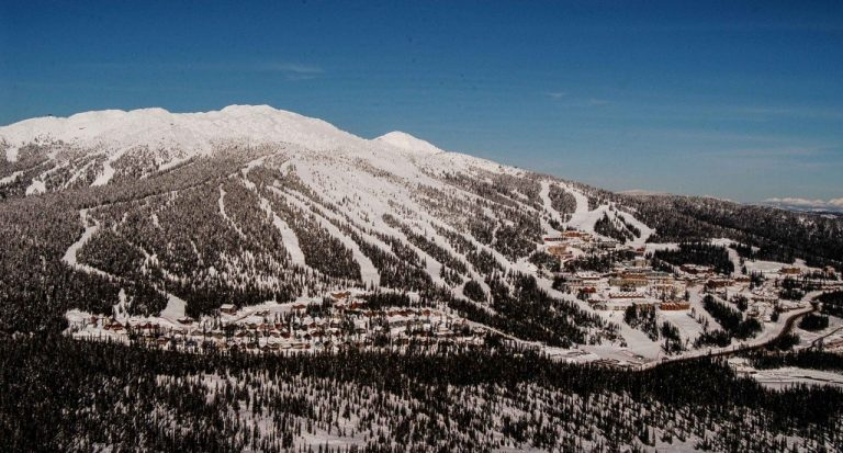 Aerial view - Snowpines Estate, Central & Upper Village