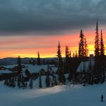 Sunset from Stonebridge at Big White Ski Resort
