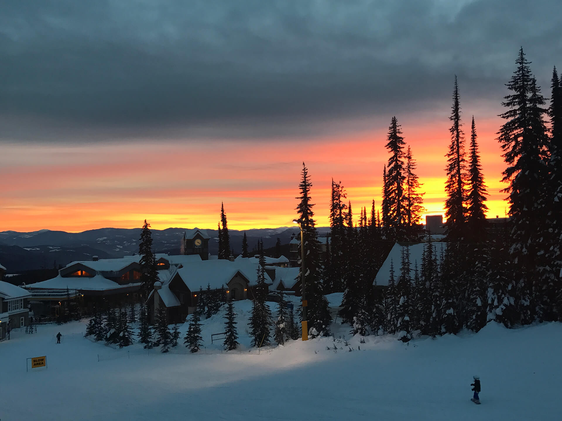 Sunset from Stonebridge at Big White Ski Resort
