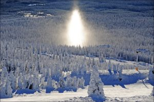 SunDog, a snowy phenomena, seen often at Big White whilst skiing.