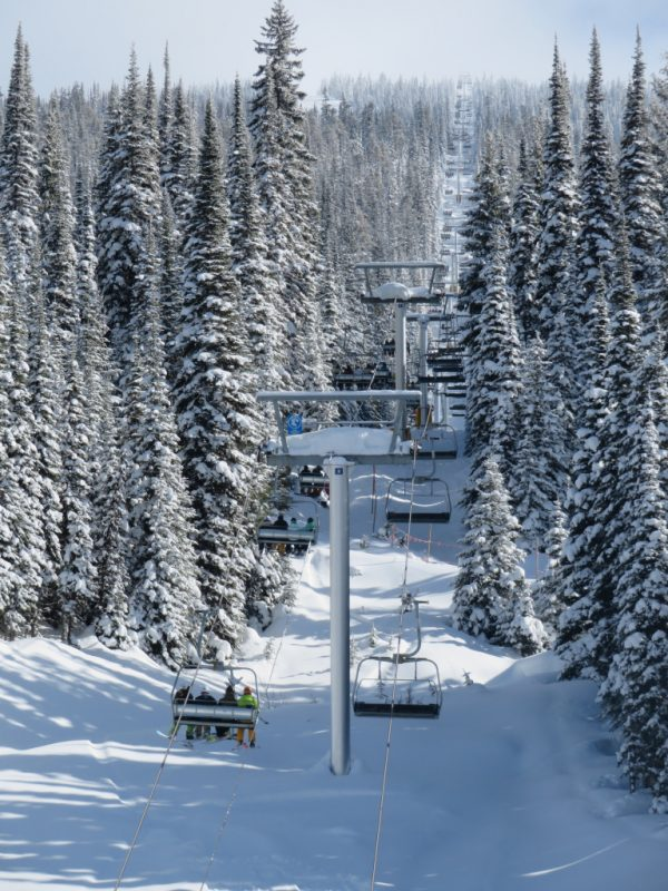 Chairlift at Big White Ski Resort