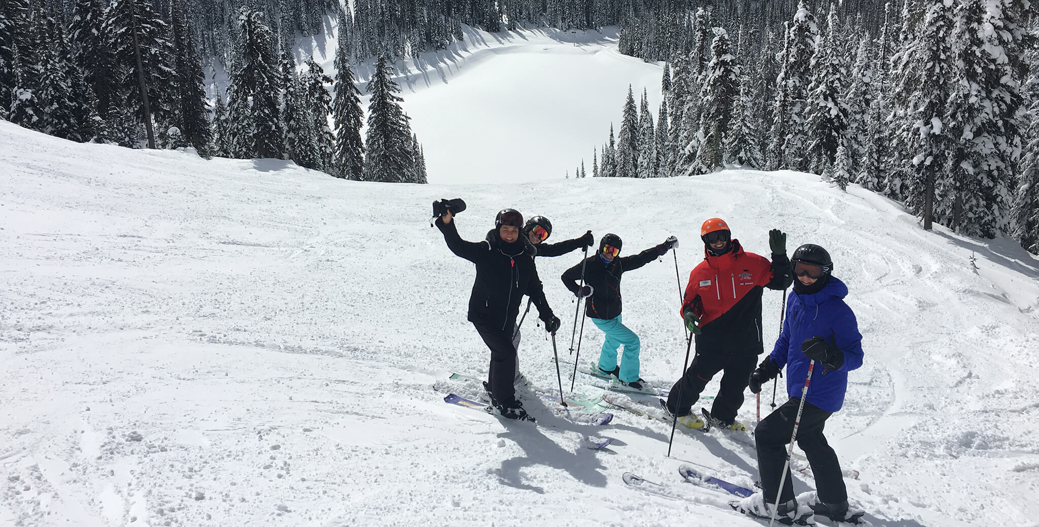 Skiers having fun at Big White Ski Resort