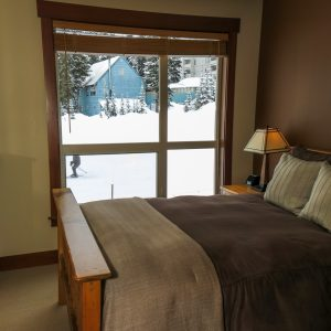 Stonebridge Lodge Bedroom overlooking ski run