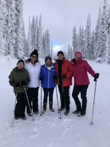A group pepped up for a snowy day of fun at Big White