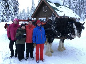All sorts of on snow activities are happening at Big White including sleigh rides!