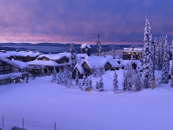 Sunset over Big White Village