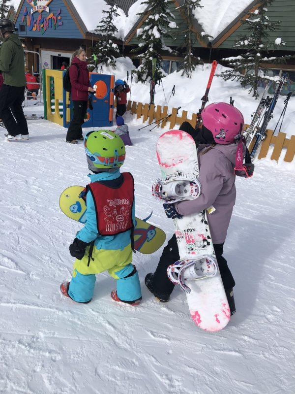 Kids ready to ride at Big White