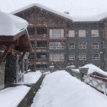 Snowing heavily outside Stonebridge Lodge