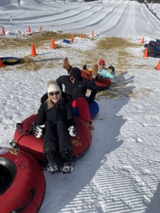 All sorts of on snow activities are happening at Big White including tubing!