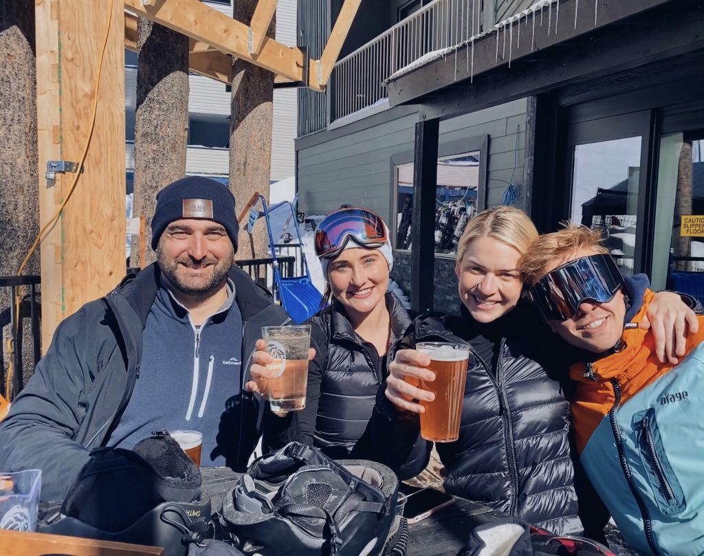 Après ski beers on the patio