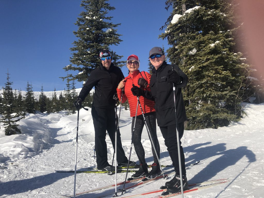 Cross country skiers at Big White Ski Resort
