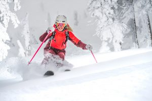 Perfect powder skiing at Big White Ski Resort