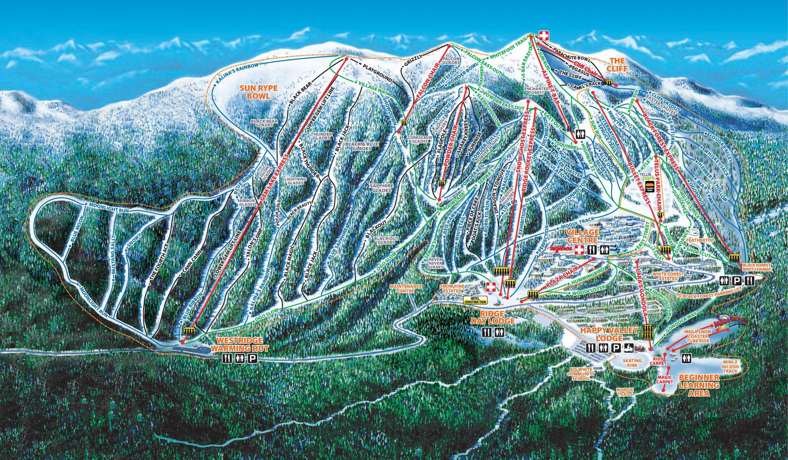 Big White Alpine Mountain Map